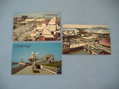 International And Universal Exposition-Canada Worlds Fair-Expo 67 Postcards-3
