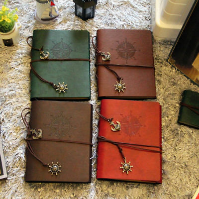 Scrapbook DIY Vintage Leather Photo Album Pictures Storage Book Anniversary Gift