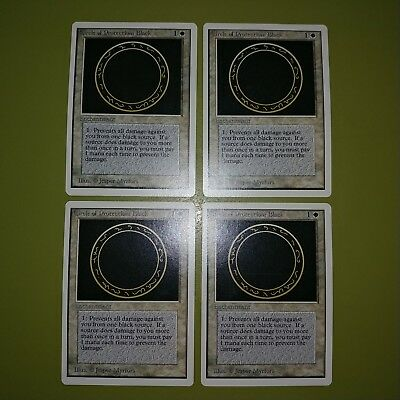 MTG *CCGHouse* Magic Revised NM Circle of Protection: Black X4