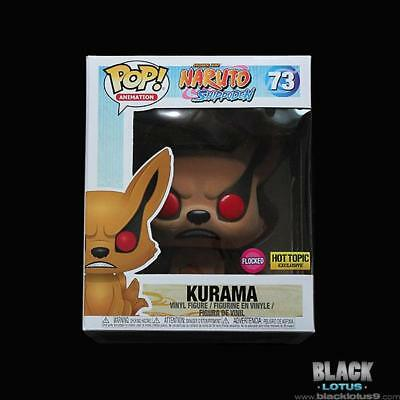 Funko Pop! Flocked Kurama Naruto Shippuden Anime Hot Topic IN STOCK Pop 73