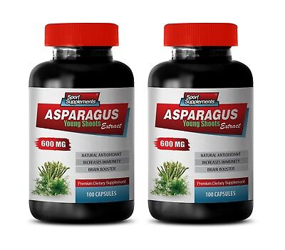 asparagus capsules - Asparagus Extract 600mg - may improve mood 2 Bottles