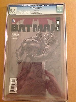 CGC 9.8 Batman Europa #1 Jim Lee sketch variant cover