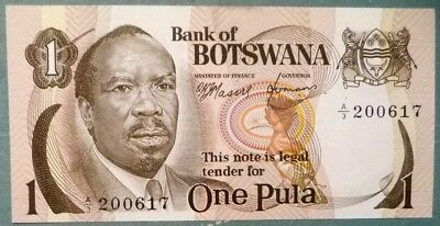 Botswana 1 Pula  Note, P 1,  1976 Issue, First Note