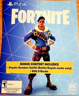 Fortnite Royal Bomber Skin PLUS 500 V-BUCKS For PS4 - PlayStation - Sony