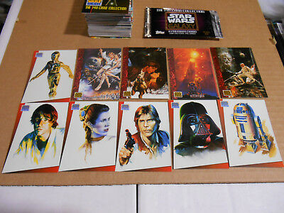 Star Wars Galaxy 1993 Series 1 Topps Trading Cards Complete 140 Card Set