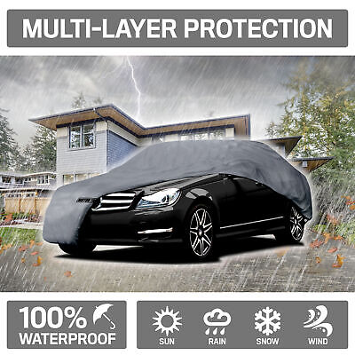 Motor Trend Waterproof 4-Layer Outdoor Car Cover for Ford Mustang 2005-2014