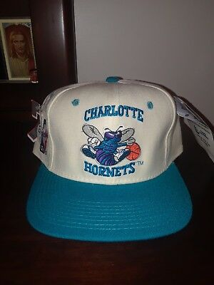 c9e8c2026c93a RARE NWT VINTAGE Charlotte Hornets 1990 s NBA Basketball Fitted Cap Hat 7  ...