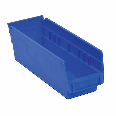 "Akro-Mils 30110 Plastic Shelf Bin Nestable - 2-3/4""W x 11-5/8""D x 4""H Blue, Lot"