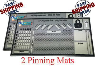 "2x  Pinning Mat - Locksmith - Lock Sport - Lock Picking 0.31"" X 11"" X 21"""