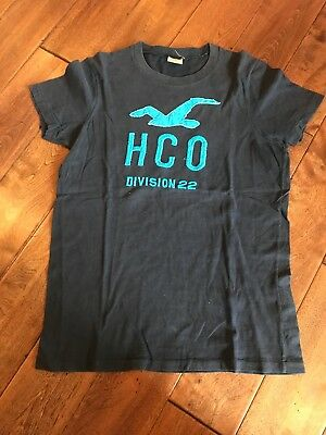 0f3360e4 Hollister Dark Blue Young Men's Tee T Shirt Size Small HCO Short Sleeve