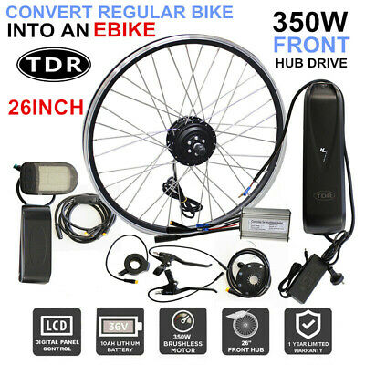 36V Electric Bike E-Kit Ebike Bicycle Conversion Kit 350W 10Ah Lithium Battery