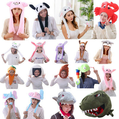 Yatyqs Headdress DouYin with Airbag Animal Hat Jumping Ear Movable Cartoon gift