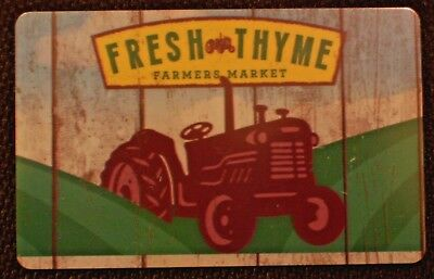 New Unused,Fresh Thyme Farmers Market Tractor,Collectible Gift Card No $ Value