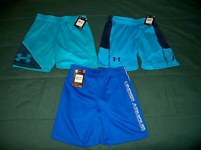 NWT (3) Boys Size 4 UNDER ARMOUR Blue Shorts