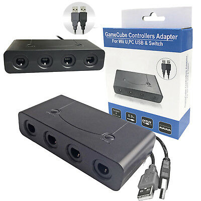 4 Port Gamecube NGC Controller Cable Adapter For Nintendo Wii U & Switch &PC USB