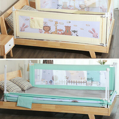 Cartoon Baby Safety Fence Guard Adjustable Kids Infant Bed Guardrail Bed Rail
