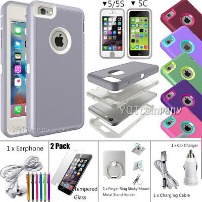 For iPhone 5 5s SE 5C Shockproof Hybrid Rugged Armor Protective Phone Case Cover