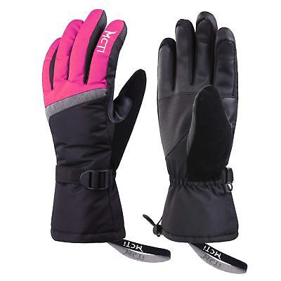 -30℃ Waterproof Womens Winter Ski Gloves Snow 3M Thinsulate Thermal Touchscreen