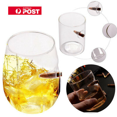Bullet Whiskey Glass Cup Bar Shot Hand Blown Whisky Vodka Glasses Party Wine AU