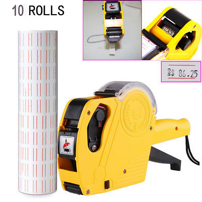 8 Digits Price Numerical Tag Gun Label Maker fr Office Retail Shop Grocery Store