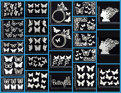 White Chipboard - Butterflies - Collection One