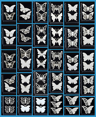 White Chipboard - Butterflies - Collection Two