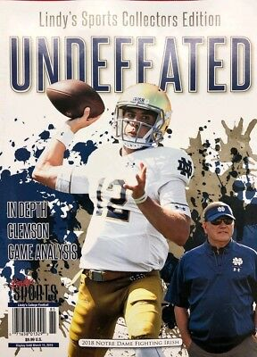 UNDEFEATED 2018 Notre Dame Fighting Irish Lindy's Sports College football