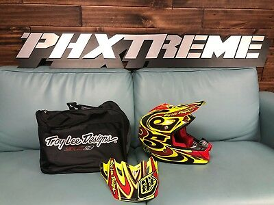 Troy Lee Designs TLD SE3 Off Road Helmet REFLECTION YELLOW MULTI SMALL NEW