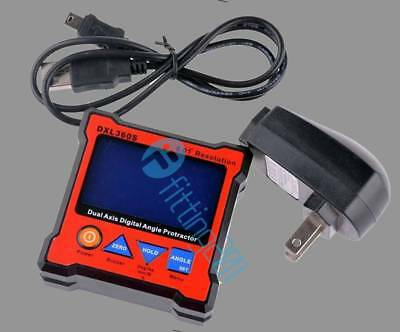 Dual Axis Digital Protractor Inclinometer Level Box 0.01° High-precision DXL360S