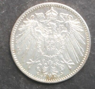 Germany   1914 F  1 Mark    Silver  Coin UNC NICE!!!