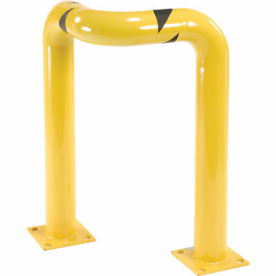 "Triple Elbow Corner Guards, Steel, 36""H X 24""L, Yellow, Lot of 1"