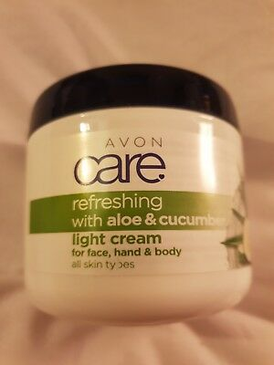 Avon Care Light Cream For Face Hands And Body Refreshing With Aloe