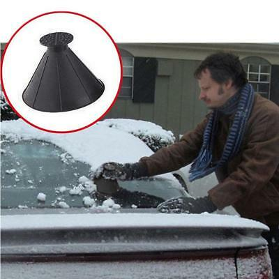Car Windshield Magic Ice Scraper Tool Cone Shaped Funnel Remover Snow Black