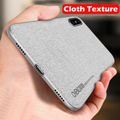 For iPhone XS Max 7 8 Soft TPU Fabric Cloth Phone Case Magnetic Ultra Thin Cover