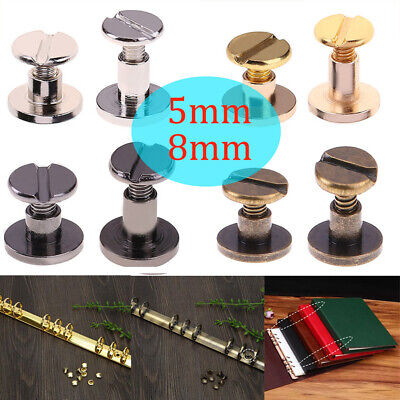 20Pcs Belt Screw Leather Craft Chicago Nail Brass Rivet Durable Wallet Head Stud