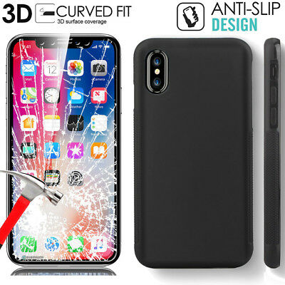 Matte Rubber Silicone Gel Anti Slip Slim Grip Cover Case For iphone X XR XS MAX