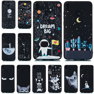 For Huawei Honor 8X 7X 7A 9 Lite Slim Soft Silicone Painted TPU Matte Case Cover