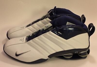 9e015b9d67c Nike Shox Supremacy 2002 Retro Shoes White Blue VC Size 17 ( 305963-141)