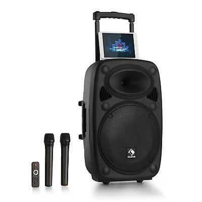 "auna Streetstar 15 Système PA portable subwoofer 15"" Bluetooth  USB SD MP3 FM AU"