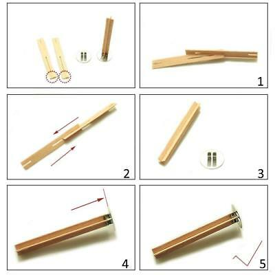 X50 Cross Wooden Candle Wicks Core Supplies DIY Candle Making With Metal Base