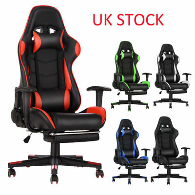 Panana Gaming Racing Office Chair Swivel Executive Sport Leather Computer Desk