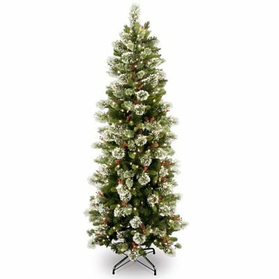 National Tree Company 6.5ft Green Pine Artificial Christmas Tree with Lights