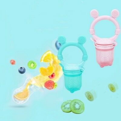 Baby Food Fruit Soft Nipple Feeder Safety Silicone Teether Pacifier Feeding Tool
