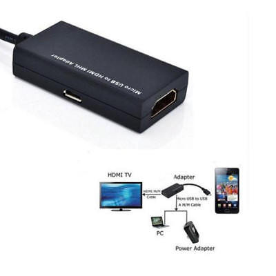 Micro USB MHL 2.0 To HDMI HDTV TV HD Adapter Cable for Cell Phone Mobile