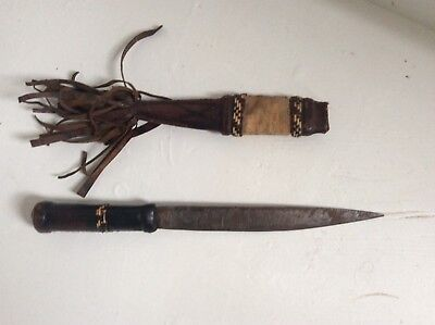 Maasai Dagger with Case Early 20th Century Good Condition