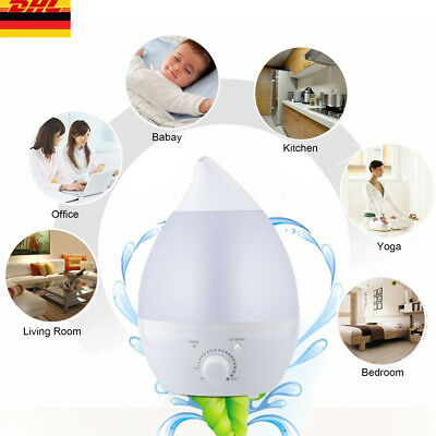 2,4 L Aroma-Licht-Diffuser Ultraschall-Luftbefeuchter, 7 LED Farben, Humidifier
