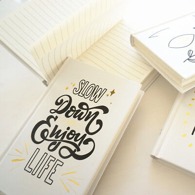 """""""Slow Life"""" 1pc Hard Cover Notebook Lined Papers Journal Notepad Cute Diary Gift"""