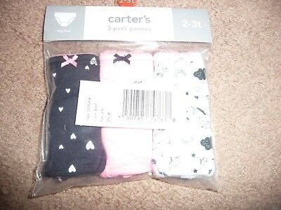 New Carter's 3 Pack Underwear Girls Panties NWT size 2-3T Unicorns NWT