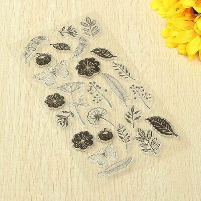 New Flower Butterfly Clear Silicone Stamps Seal for DIY Scrapbooking Christma