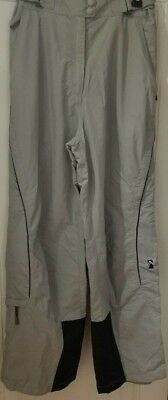 Alpine Pants Tan Outdoor Snow Insulated Camping Ski Hiking Athletic Pocket Zip L